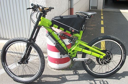 Fully Spezial E-bike 48V 1500W (grün)